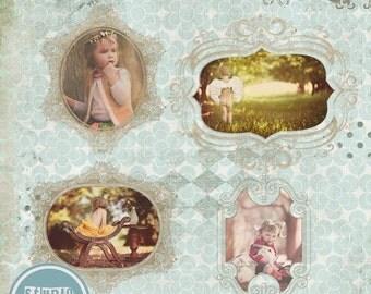 ON SALE Templates for Photographers  Digital Frames, doodle, psd template vol.2 - INSTANT Download
