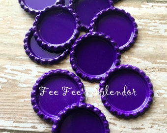 "Flattened bottlecaps Bright Purple- DIY hairbow center - Flattened bottle cap- * 25 mm 1"" additional quantities available"