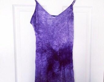 Purple & Blue Tie Dye Maxi Dress