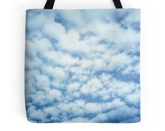 Clouds Tote Bag, Clouds Print, Clouds Bag, Clouds Photo, Clouds Purse, Clouds Photo Bag, Clouds Picture