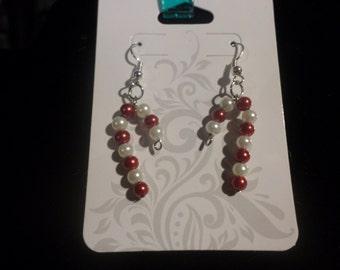 Beaded Candy Cane Earrings