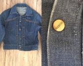 Mems vintage jean jacket rockabilly rock n roll