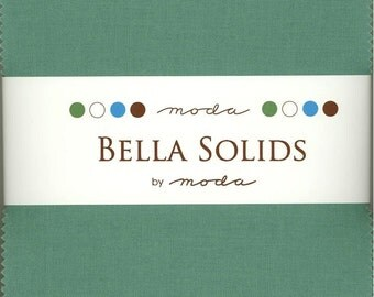 Bella Solids Betty Teal Charm Pack, Set of 42 5-inch Precut Cotton Fabric Squares (9900PP-126)