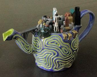 Seattle Skyline Teapot
