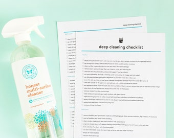 Deep Cleaning Checklist Printable - Letter Size - INSTANT DOWNLOAD