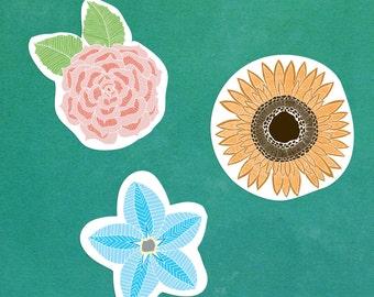 Vinyl Flower sticker pack