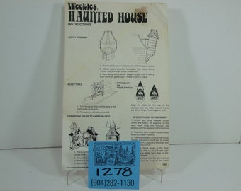 1970's Weebles Haunted House Instruction sheet