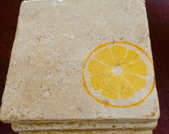 Lemon Stone Coasters