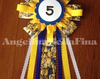 New Minions Children's Birthday Corsage