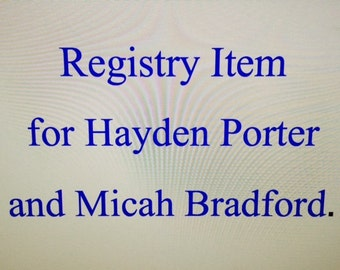 Registry Item for Hayden Porter and Micah Bradford Coffee Mug