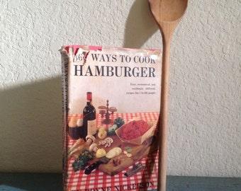 Vintage hamburger cookbook / mid century cookbook / 365 Ways to Cook Hamburger / YUMMY recipes