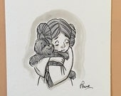 "Original, signed ""Wookiee the Chew"" drawing - ""We'll Be Alright"" by James Hance"