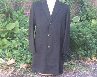 50% off clearance sale 1960s mens coat, John Collier Coat, Milium coat, Mens Wool Coat, size 38 regular coat, tailored coat, Oxford Street