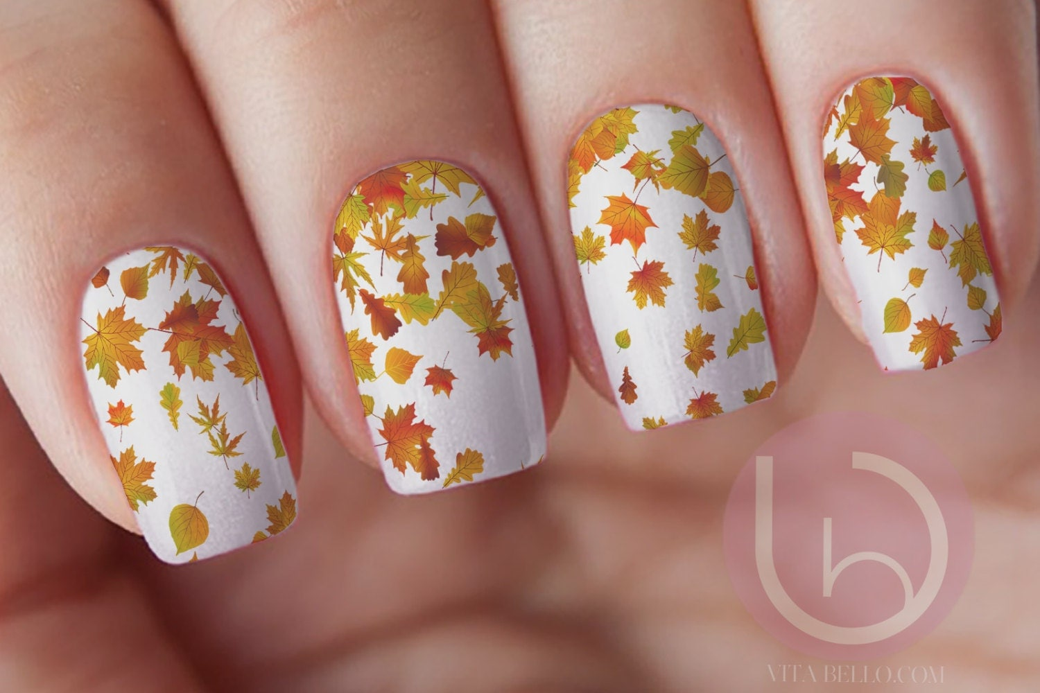 Autumn Leaves Waterslide Nail Decal, Nail Design, Nails, Press On ...