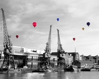 Coloursplash, Hot Air Balloons, Fine Art Photography, Bristol Photo, Bristol Harbourside, Balloon Fiesta, Bristol, England, United Kingdom