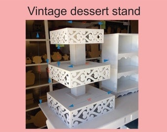 vintage cupcake stand, romantic dessert stand and tray