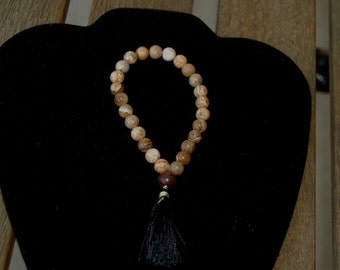 27 Bead Picture Jasper and Rosewood Wrist Mala/ Pocket Mala/ Yoga Bracelet/Prayer Bracelet
