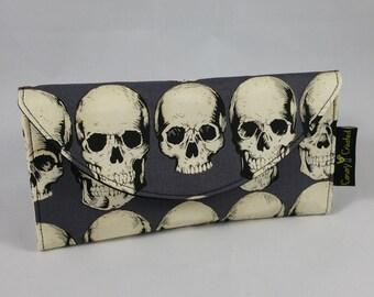 Rad Skulls in Gray Wallet