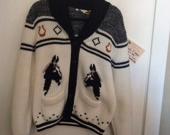 """Collectible """"Miller"""" western  sweater"""