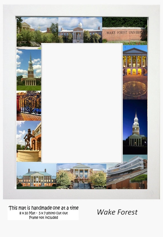 Wake Forest University Picture Frame Photo Mat Unique Gift