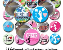 Cheerleader Cheer Leading Cheer Buttons Cheer Squad Gifts 1.25 inch pinback buttons pins badges Student reward pins