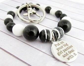 Keychain Bracelet, Wristlet Keychain, Bracelet Keychain, Wrist Keychain, Keychain Wristlet, Wrist Lanyard, Gift Idea, Car Accessories, WK16