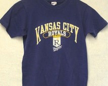 Vintage Kansas City Royals Champion Brand Kids T Shirt