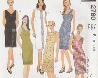 McCall's 2780 Size 8-10-12 Fashion Basics Dresses Sewing Pattern 2000 UnCut