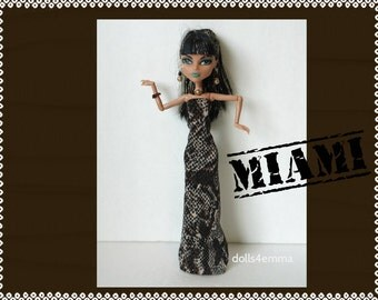 Monster High Doll Clothes - Reptile Egyptian GOWN & JEWELRY Set - Handmade by dolls4emma