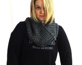 Knit Snood, Hand Knit Cowl, Infinity Cowl, Neck Wrap, Neck Warmer, Knit Cowl, The Shelby