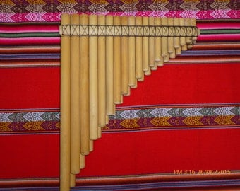 Pan Flute Chromatic 37 pipes From Peru   - case included-Item in USA