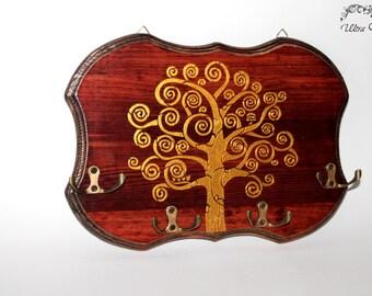 Hook bar, kitchen towel holder, key board , key holder, holder ,wood, key,jewelry holder