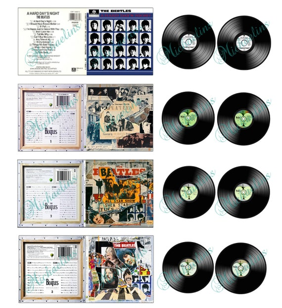 Items Similar To Miniature Beatles Albums And Records 1 Quot X1