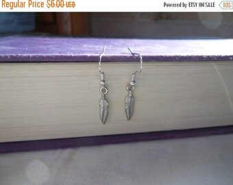 Big Summer Sale Feather Earrings, Silver, Feather Jewelry