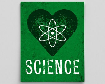 Science Dorm Decor Heart Print Science Teacher Gifts for Teachers Chemistry Biology Physics Nerdy Home Decor Gifts for Him Gifts for Her