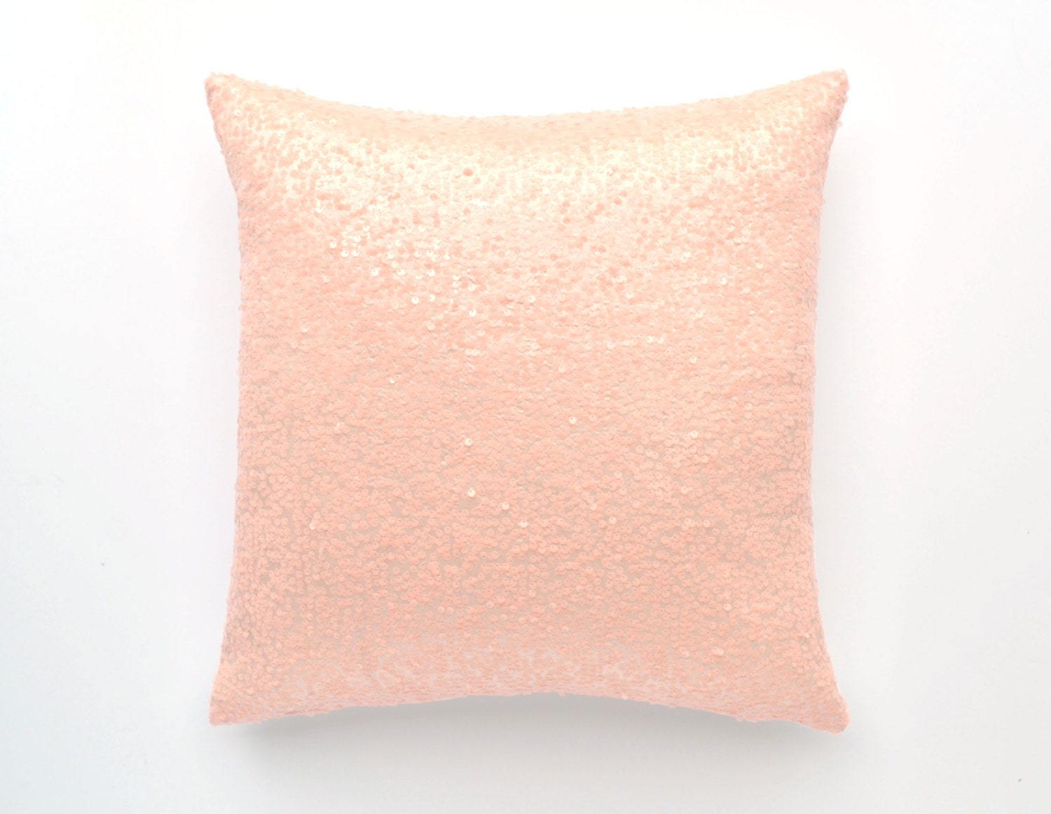 Pink Sequin Decorative Pillows : 20 x 20 Sequin Pillow Cover - Baby Pink Taffeta - Decorative Pillow, Throw Pillow, Sparkle ...
