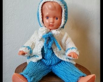 "Vintage celluloid doll - 8"" / 20 cm, vintage plastic doll, old doll"