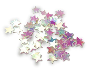 Iridescent Stars Confetti 11mm 14 grams - Party Supplies