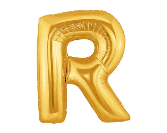 jumbo letter r gold foil mylar balloons 40 inch With jumbo mylar letter balloons