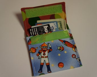 RETRO SPACE TOYS Wallet Fabric Credit Card Holder