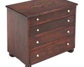 American Federal Miniature Antique Spice Chest of Drawers, Boston, 19th Century, 120009UQR12
