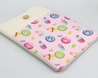 Cute MacBook Case, donuts, Macbook 12 sleeve, 11in, 13in, 15in, 17in, Macbook Sleeve, Laptop case, Laptop sleeve, padded cover