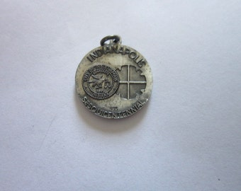 Vintage 1971 Indianapolis Susquicentennial Sterling Silver Charm Super