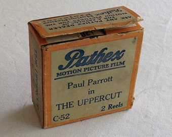 """Pathex Films C-52 """"THE UPPERCUT""""  a Hal Roach 2 Reel Comedy, 9.5mm Silent Movie Starring Paul Parrot"""