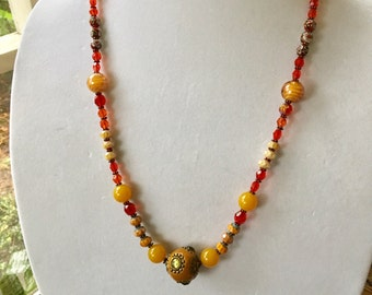 HARVEST GemStone Beaded Statement Necklace