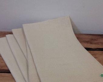 Vintage Ivory Pure Irish Linen Napkin New Box Set of 4 from Moseley's