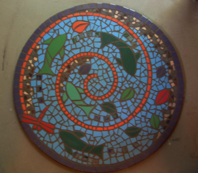 Custom Exterior Tile : Custom exterior tile mosaic on cement backer board sample