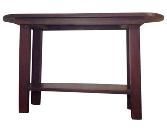 Mission Style Hall Console Table
