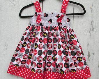 Minnie Mouse Sundress Size 3  Knot Jumper Disney Sundress