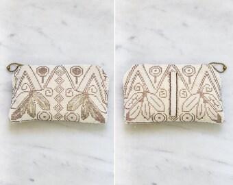 vintage 1930s purse   30s art deco clutch   small antique beaded purse
